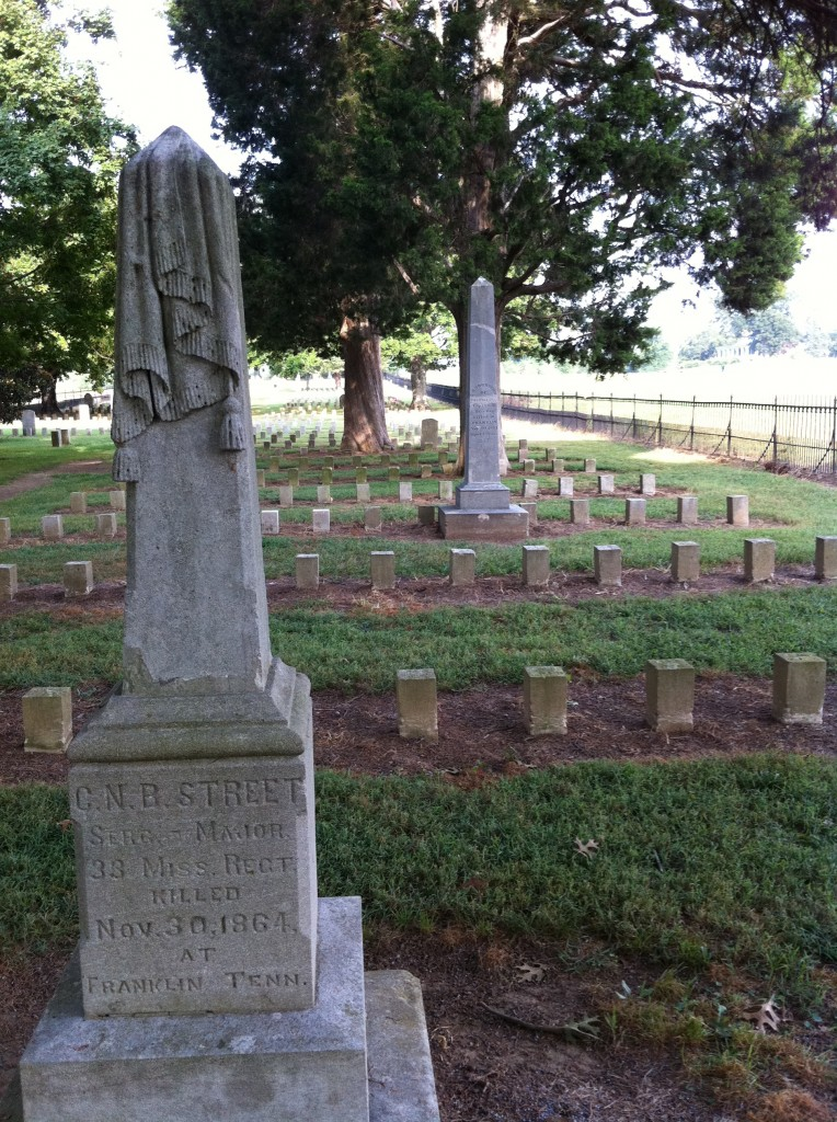 The largest privately owned military cemetery is located at Carnton Plantation, Franklin, Tennessee