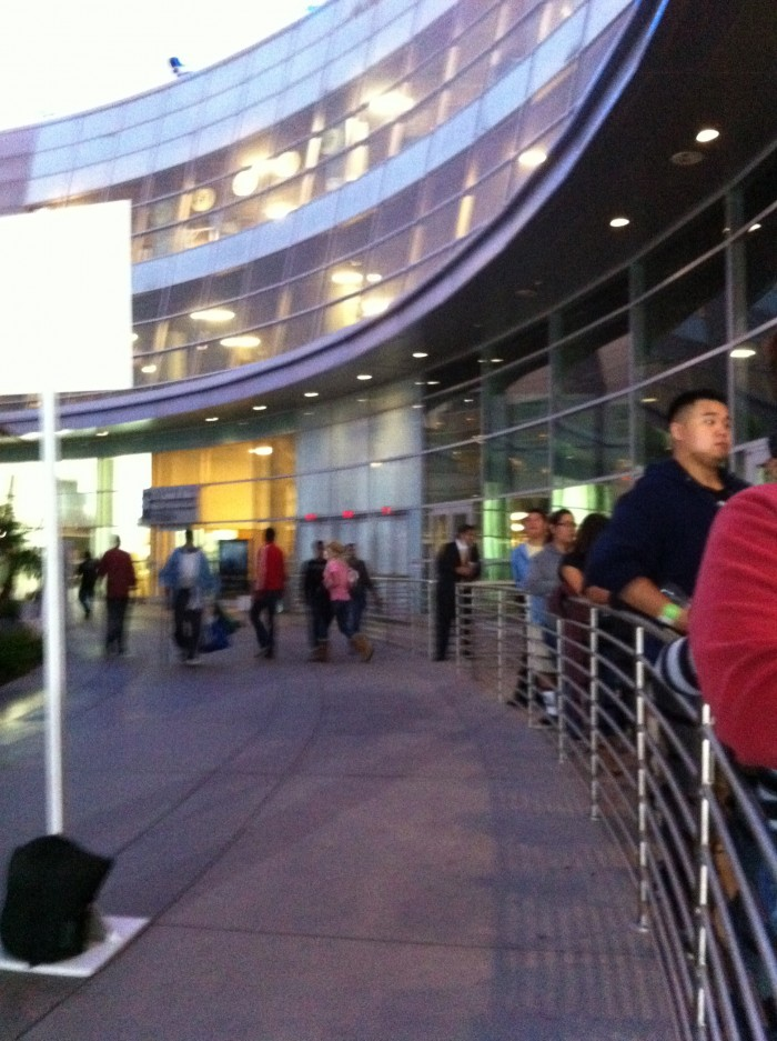 Lines forming at the ArcLight.