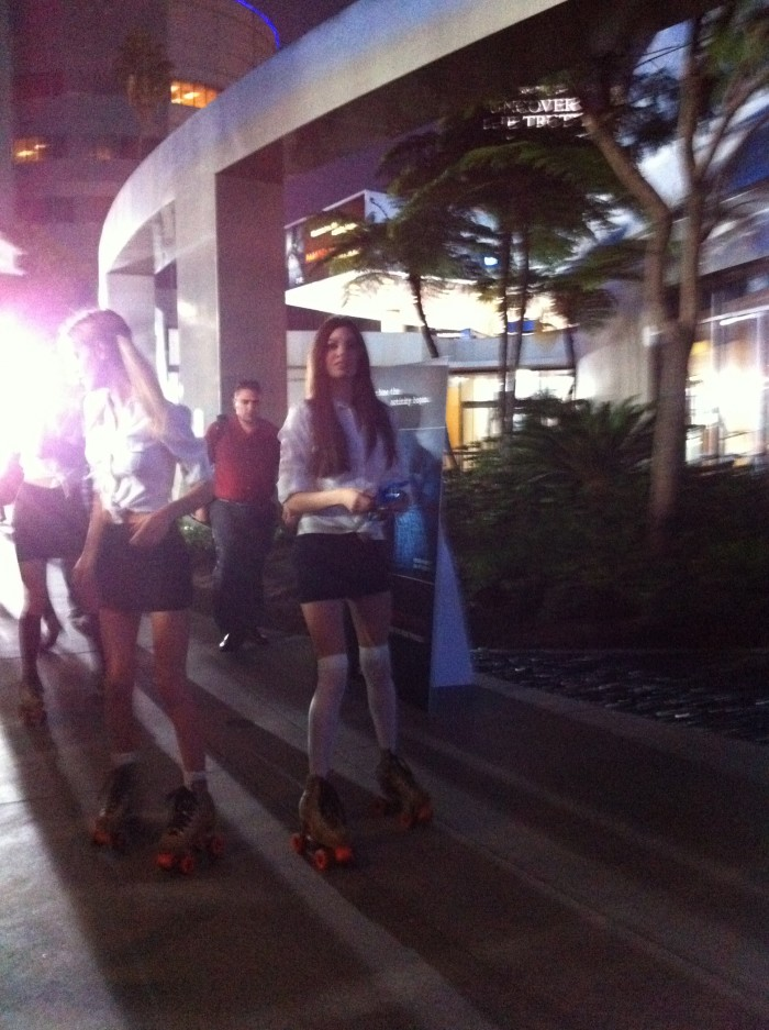 Paranormal Activity 3 merchandise was distributed via roller skates.