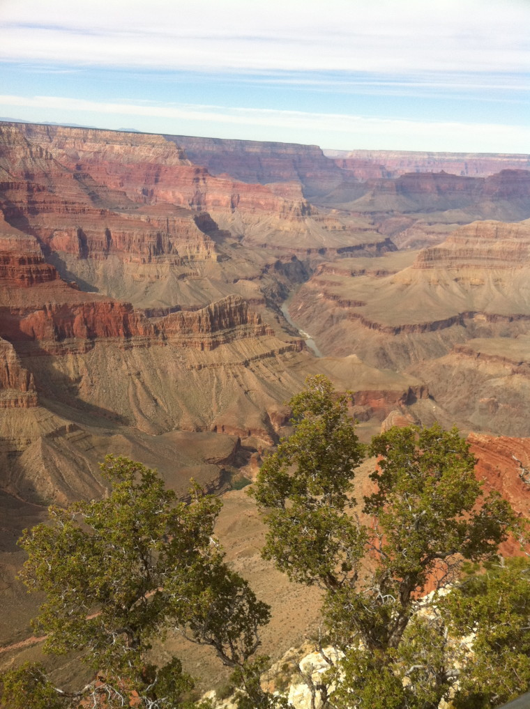 A beautiful day at the Grand Canyon in October 2010!  ©D.L. Ewbank