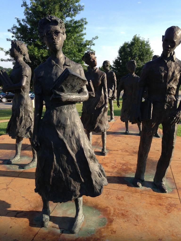 Little Rock Nine monument. ©D.L. Ewbank