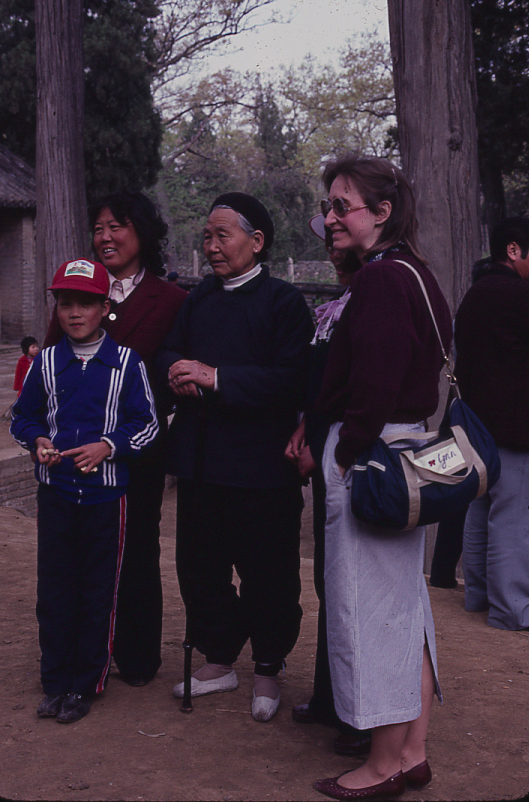 Lynn Ewbank, right, China 1986. ©D.L. Ewbank